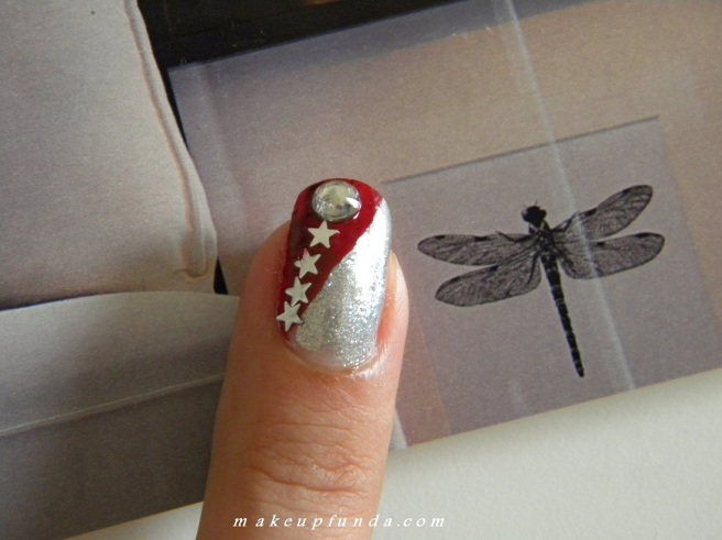 Nail Art-Red Galaxy