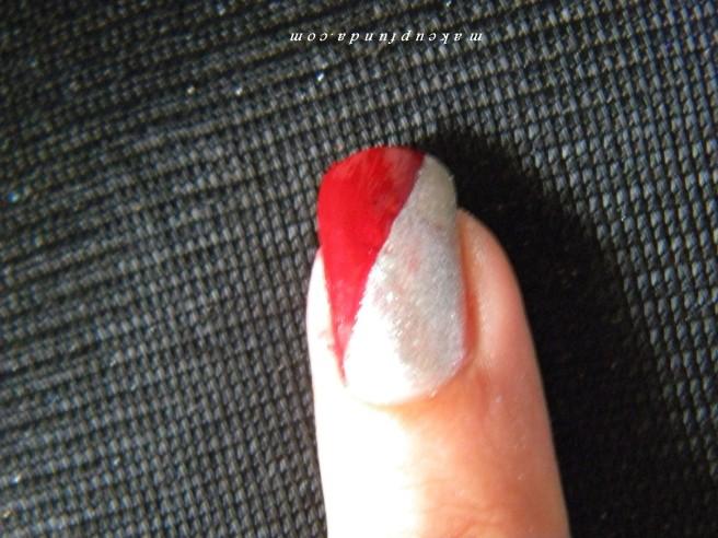 Nail Art Red Galaxy