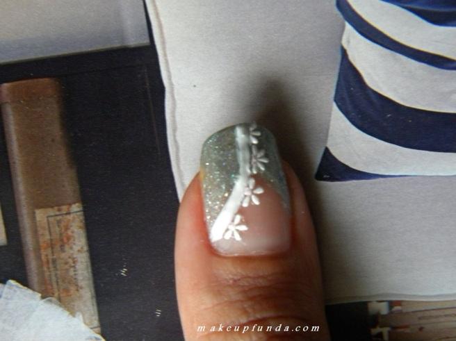 Nail Art-Snowing Silver