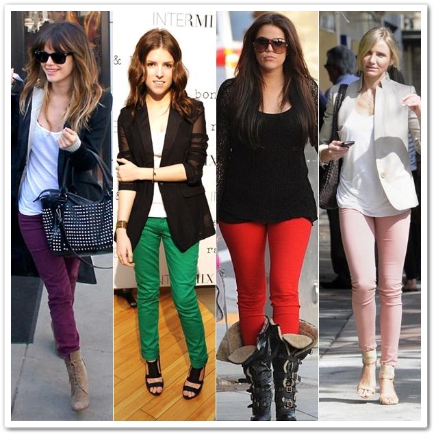 Celebrities in Colored Denims