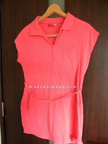 H&M Long Pink Polo T-shirt