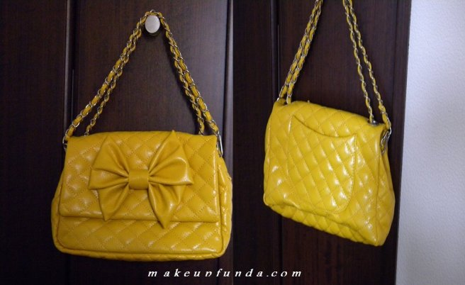 H&M Quilted Yellow Purse