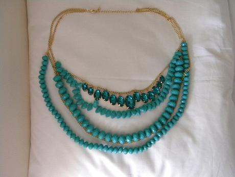 H&M Turquoise Multilayer Necklace