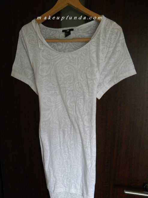H&M White Long Top