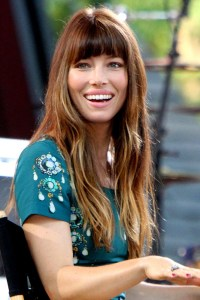 Jessica Biel in Fringe Hairstyle