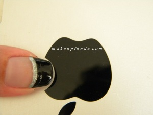 Nail Art Black Sparkle
