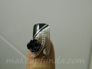 Nail Art Bronze Embrace