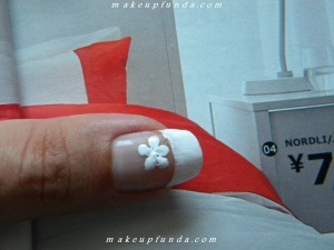 Nail Art French Flora