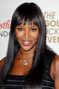 Naomi Campbell in Fringe Hairstyle