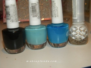 Required Nail Colors for Blue Bouquet