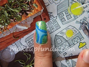 Nail Art Rain Drops Step 6