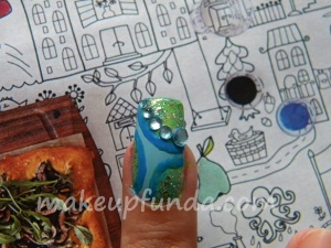 Nail Art Rain Drops Step 7