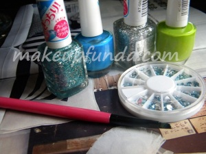 Things Required for Rain Drop Nail Art